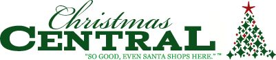 Christmas Central Logo.... useful info on tree decorating such as how many lights per foot and how much garland per foot!