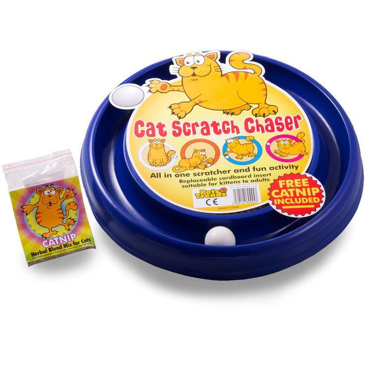 Cat Scratch Chaser-Cats-Cat Toy-Cat Scratcher-Cat Chaser-Kittens-Ball-Fun-Blue