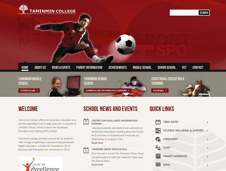 Taminmin College Website Design by Captovate, Darwin