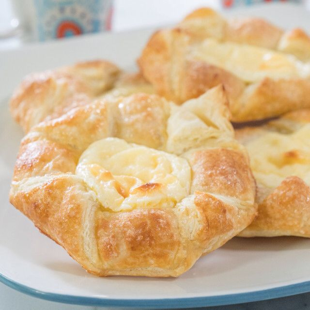 Easy Cheese Danish Recipe Food Network Recipes Easy Cheese Cream Cheese Puff Pastry