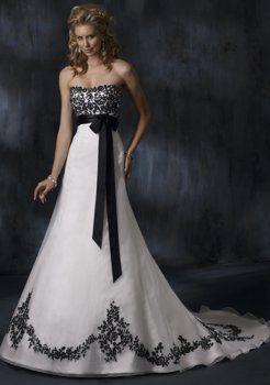 a-line/princess sweetheart train robes d'organza de mariage de couleur