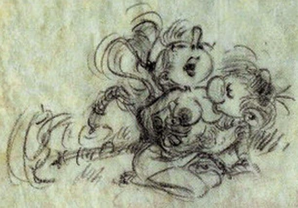 Coquin Franquin : Mademoiselle Jeanne et Gaston Lagaffe