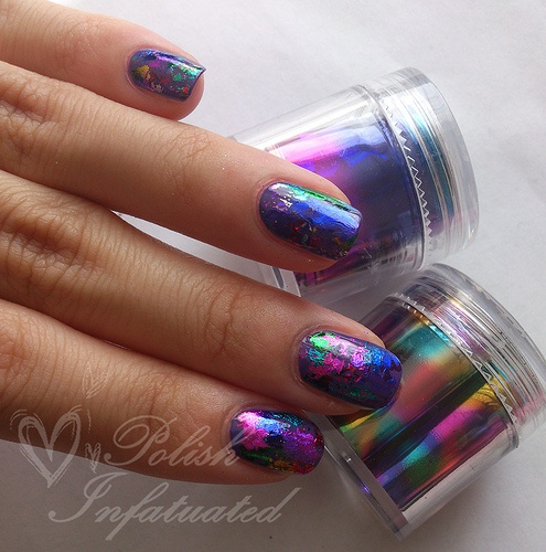 25+ Best Ideas About Foil Nails On Pinterest