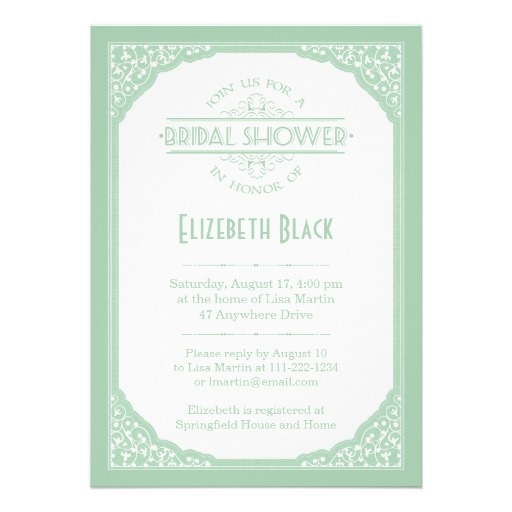 31 best Mint Green Bridal Shower images on Pinterest Green - free templates for bridal shower invitations