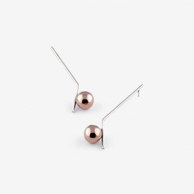 Glow Rose Earrings by Mara Paris