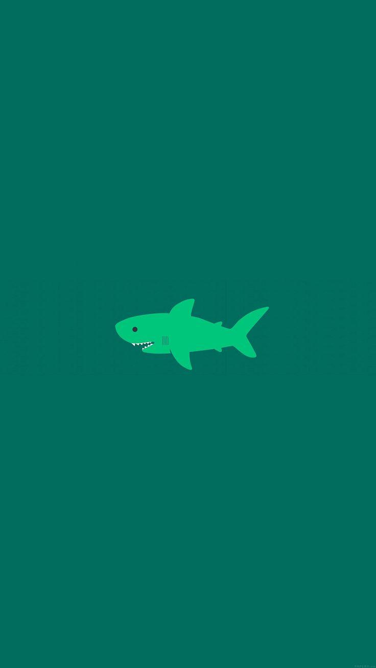 nice little-small-cute-shark-green-minimal-iphone6-plus-wallpaper