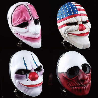 #Payday 2 mask #heist joker costume cosplay prop gift game #board for dallas gift, View more on the LINK: http://www.zeppy.io/product/gb/2/151579728636/