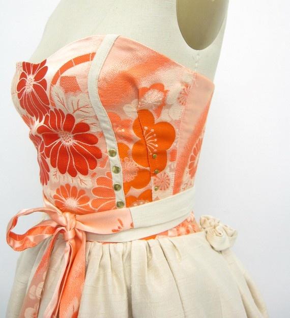kimono patterned fabric modern dress