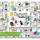 This packet contains definition cards and colorful clip art for 48 character traits/adjectives, a 50 slide powerpoint with each word, definition, a...