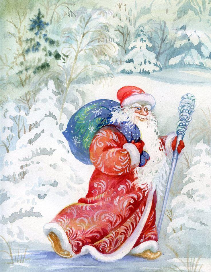новогодняя открытка с дедом морозом нарисовать публично выясняют отношения