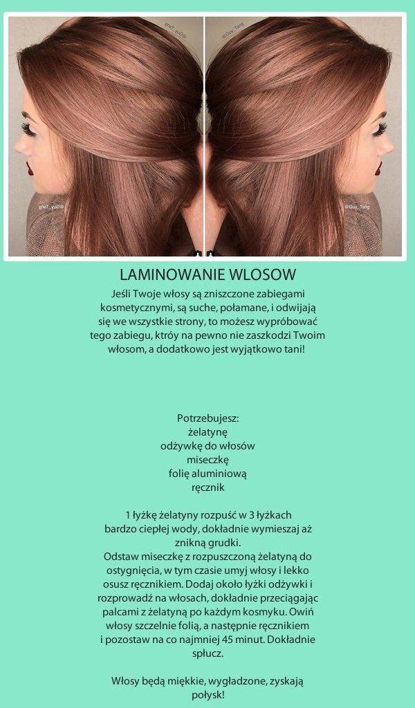 Laminowanie włosów żelatyną...Domowe SOS na zniszczone włosy!!!