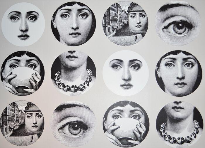 Best Designer Fornasetti Images On Pinterest Decorative - Piero fornasetti wallpaper designs