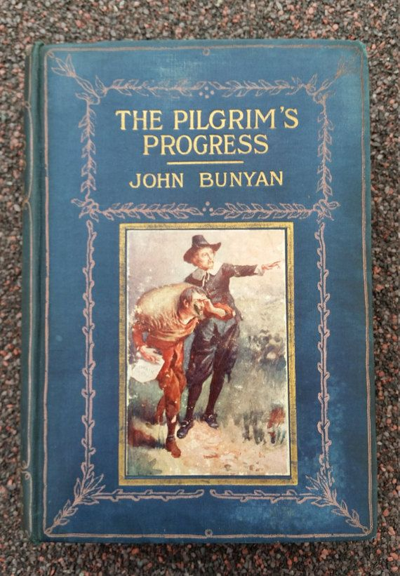 Wonderful Antique Book  The Pilgrim's Progress by OnyxCollectables