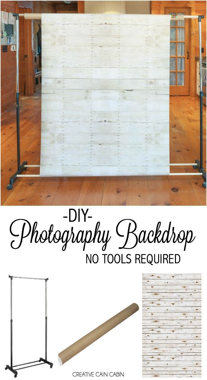 DIY Photography Backdrop Tutorial, No Tools Required                                                                                                                                                                                 More