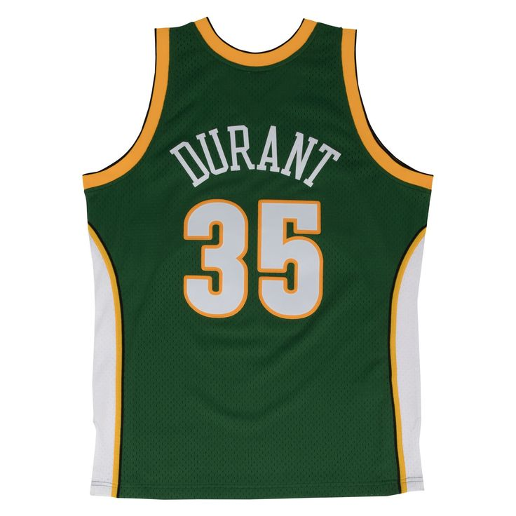 Men's Kevin Durant Seattle Supersonics Mitchell & Ness Green Throwback Swingman Jersey