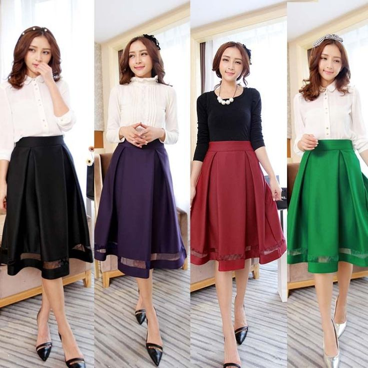 Retro Hepburn Pleated Solid Patchwork A-Line Ball Gown Midi Skater Skirt Dress #Unbranded #ALine