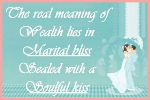 wedding bliss quotes | for a wedding card: The real meaning of wealth lies in marital bliss ...