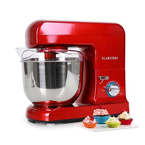 Klarstein Gracia Rossa Robot de cuisine Mélangeur Pétrin 1000 W 13 - bosch küchenmaschine profi 67