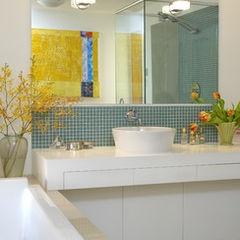 modern bathroom by Works Photography Inc.