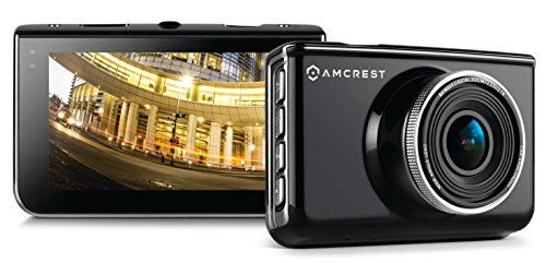 Amcrest Full-HD 1080p Dash Camera ACD-830B (Black) Car DVR Dashcam with 16GB Micro SD Card, Suction Cup Mounting Bracket, 160 Degree Wide Viewing Angle   Best Dashboard Camera