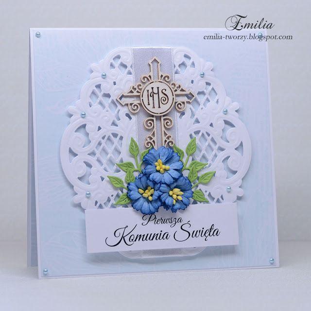 Pierwsza Komunia Święta/Kartka komunijna/Holy Communion