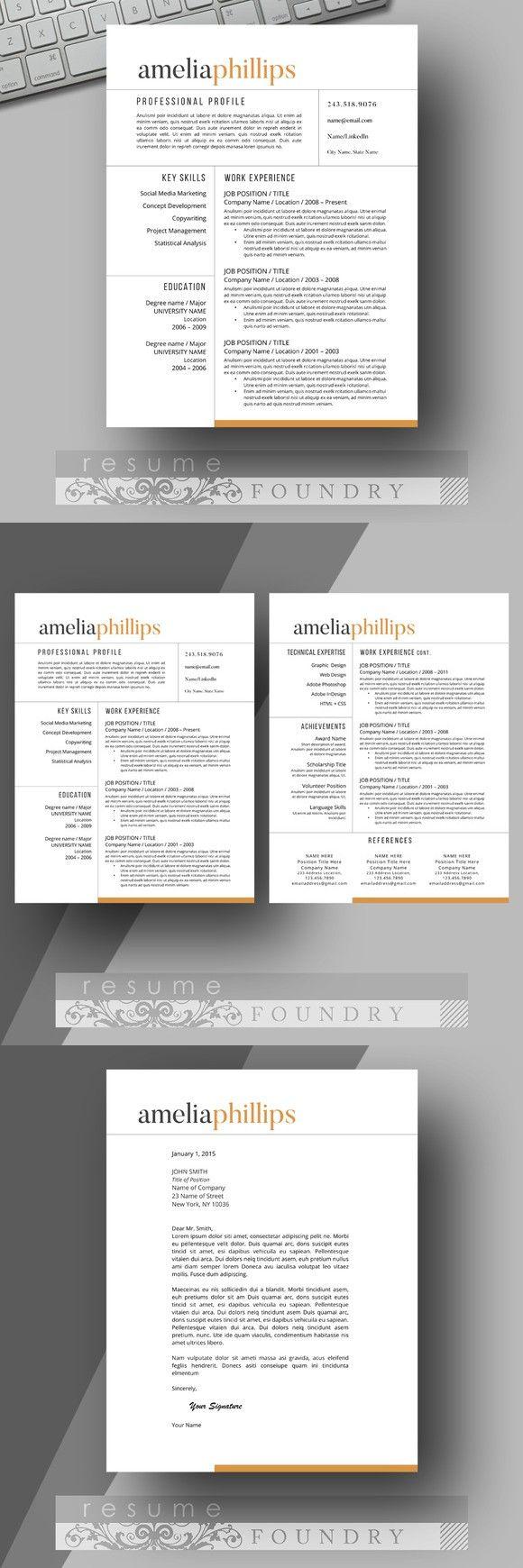 Modern Resume Template 365 best Resume images