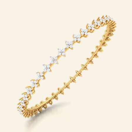 trisha gold diamond bangle