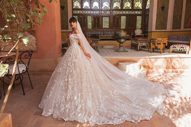 This princess-inspired blush gown from Crystal Design featuring dreamy lace applique is a show stopper! » Praise Wedding Community