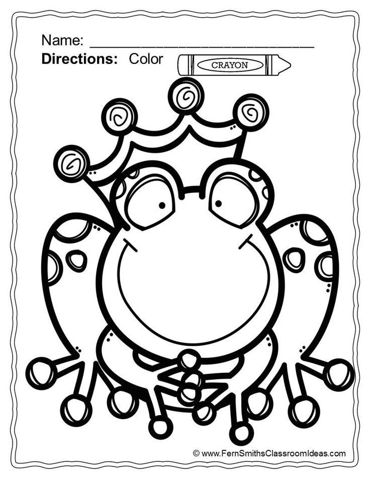 free frog prince coloring pages   #FREE Frog Prince Coloring Page // Página para colorear un ...