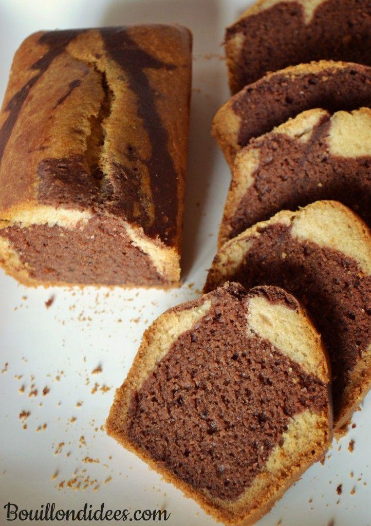 Gâteau Marbré choco-vanille sans GLO (sans gluten, lait, ni oeuf) & vegan