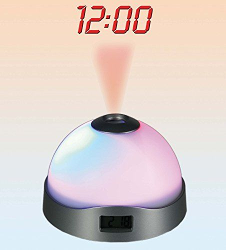 3 Changing Colour Alarm Clock - Digital Time Projector - Mens, Mans, Gents, His, Him Quality, Novelty Birthday, Christmas, Xmas Presents, Gifts Ideas