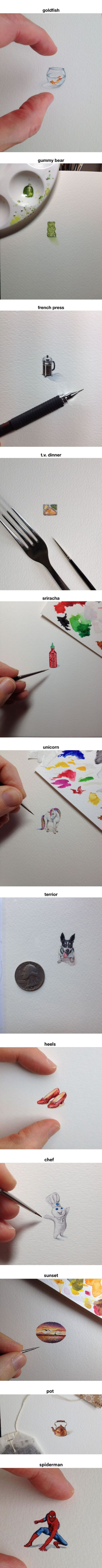 Watch These 12 Incredible And Tiny Drawings (By Brooke Rothshank)