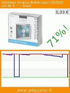 Unknown Vivanco Boîtier pour CD/DVD Lot de 5  -  - black (Accessoire). Réduction de 71%! Prix actuel 5,33 €, l'ancien prix était de 18,53 €. https://www.adquisitio.fr/vivanco/unknown-bo%C3%AEtier-cddvd-lot-0