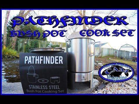 Stainless Steel Bush Pot Cooking Kit CAM Carp Fishing Magazine Videos