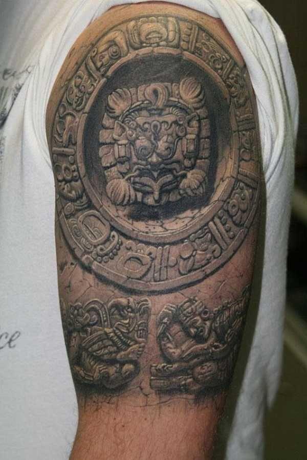 ber ideen zu azteken tattoo auf pinterest maya tattoos totem tattoo und tattoo vorlagen. Black Bedroom Furniture Sets. Home Design Ideas