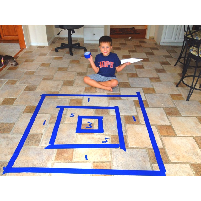 Use blue trap and air planes for target practice! Easy craft for kids at any age!!!