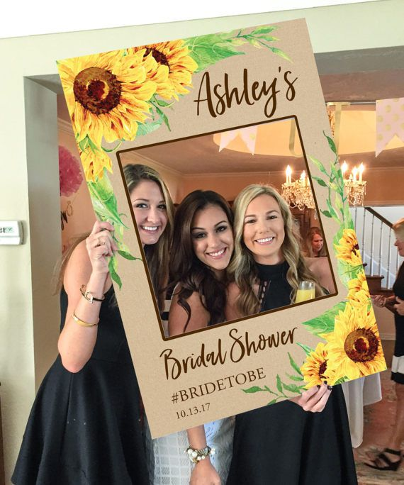 bridal shower photo prop sunflower digital file wedding photo prop baby shower photo prop printed option available bridal