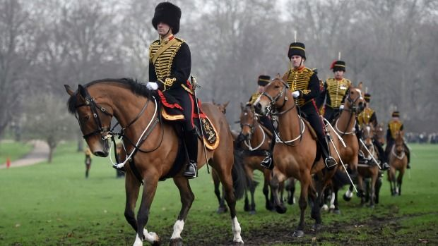 Despite the display by the King's Troop Royal Horse Artillery Royal, the Queen doesn't celebrate her ascension.