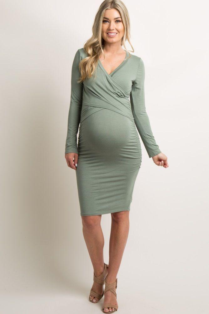 4f100fc0faa Green Cross Front Fitted Maternity/Nursing Dress   Pregos/Nursing ...