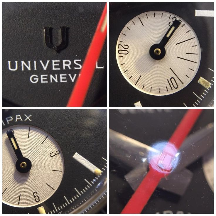 From the #ancienneselection #Evilnina Universal Geneve #Compax How do you like this dial? Early execution with applied logo in perfect condition. Not many around... See that hidden #universal logo? Yes, it's the original glass! Thanks @woundforlife for picking it in this week's #marketwatching  #anciennewatches #vintagewatches #vintagechrono #universalgeneve #universalcompax