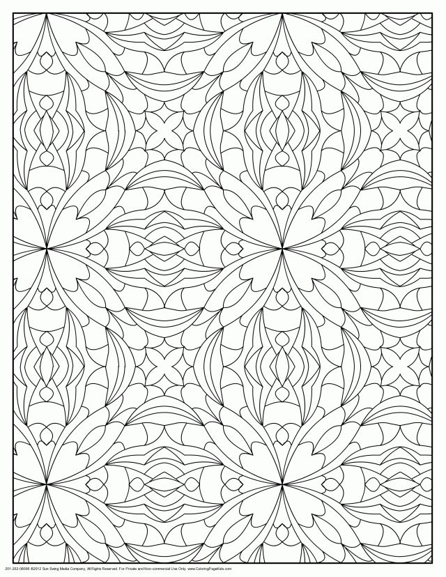 coloring pages designs patterns coloring pages hello kitty 167165 - Pattern Coloring Pages For Adults