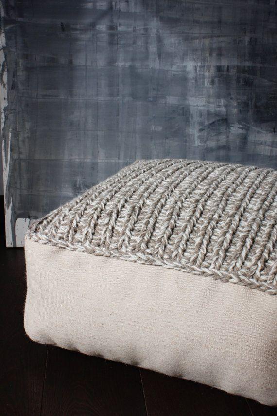 fait sur commande laine pouf-ottoman tricot pouf pouf-bio salon chaise-pépinière pouf-enfants pouf-plancher-oreiller chambre-lin pouf