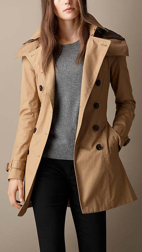 Light camel Hooded Trench Coat with Warmer - Image 1