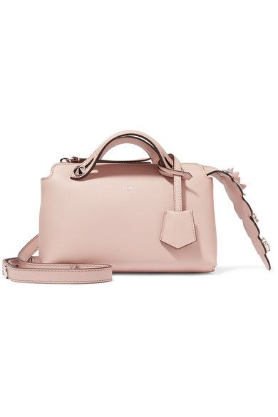 Fendi - By The Way Mini Appliquéd Leather Shoulder Bag - Blush