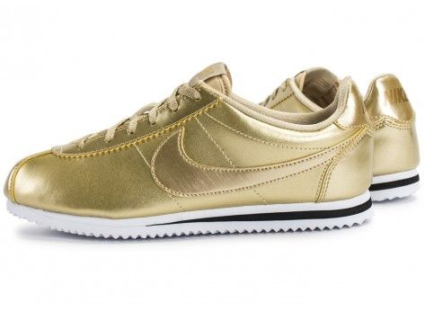 Chaussures Nike Cortez SE Junior Metallic Gold vue extérieure