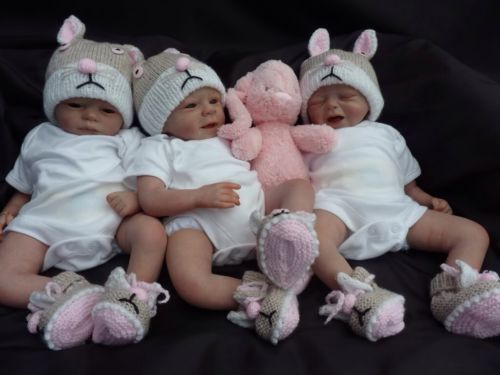 Adorable Triplets Reborn Babies Preemie For Christmas From