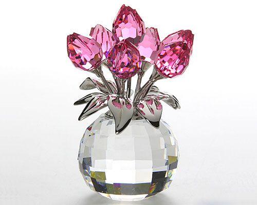 glass-ware:  スワロフスキー チューリップ Rose  ❤