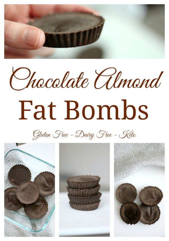 With only four ingredients, these chocolate almond fat bombs make a tasty treat to satisfy your craving. #fatbomb #keto #ketogenicdiet