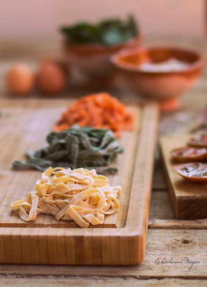 Cómo hacer pasta fresca casera y pasta de colores. Receta paso a paso. La Cucharina Mágica