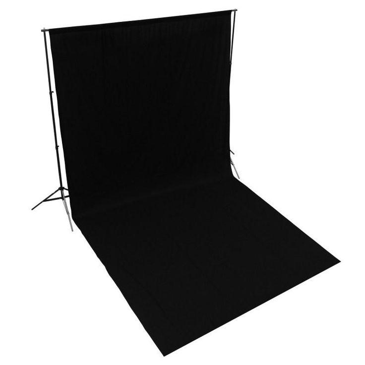 Hypop Solid Black 3M x 6M Cotton Muslin Backdrop